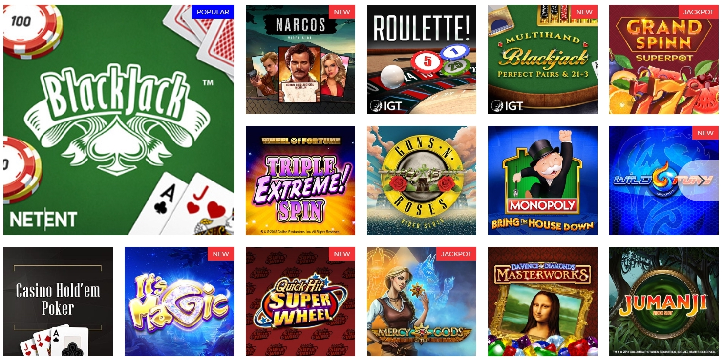 Online Casino Betting | Play Casino Games Online | BetAmerica Extra