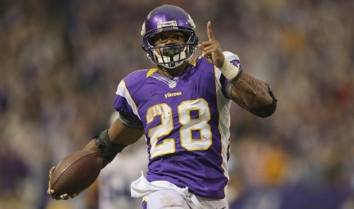 Adrian Peterson Daily Fantasy Football RB Running Back Stud Pick