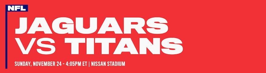 Jacksonville Jaguars vs Tennessee Titans NFL