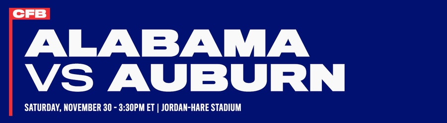 Alabama vs Auburn NCAAF