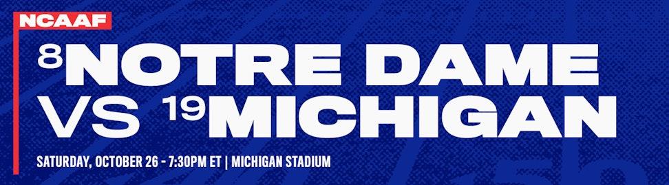 Notre Dame vs Michigan NCAAF